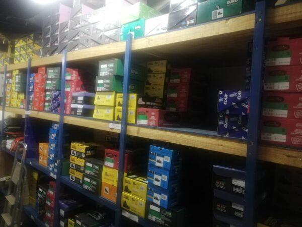 Range of safety footwear.