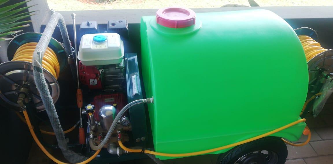Red Rhino high pressure mobile fire fighting/pressure washer unit.